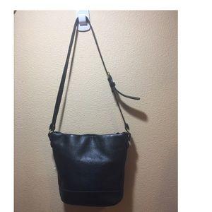 Vintage leather coach black number 1075-329
